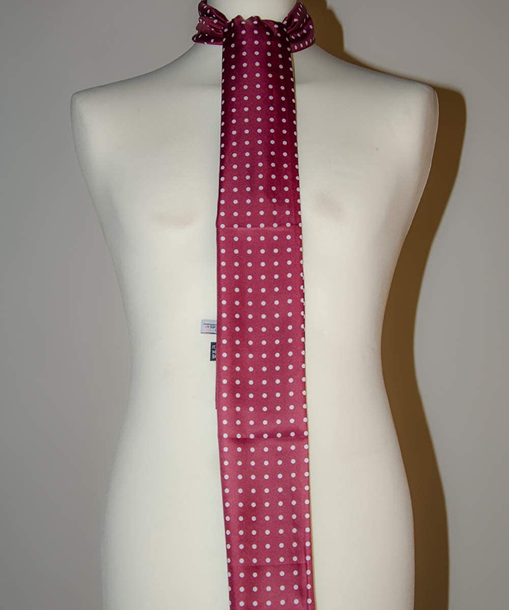 Mens Polka Dot Scarf in Red with white dots classic print Soho Scarves S18