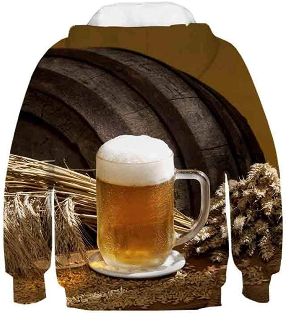 Bier 3D Hoodie Männer Frauen Neuankömmling Herbst Mode Persönlichkeit Sweatshirt männlich Koreanisch lässig Harajuku Bier Männer 3D Hoodie B