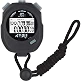Amble Stopwatch, Countdown Timer and Stopwatch Record 20 Memories Lap Split Time with Tally Counter and Calendar Clock…