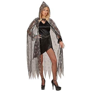 Capa araña de bruja tela viuda negra capucha gótico traje ...