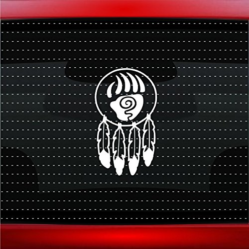 Dreamcatcher #3 Indian Native American Car Sticker Truck Window Vinyl Decal COLOR: WHITE]()