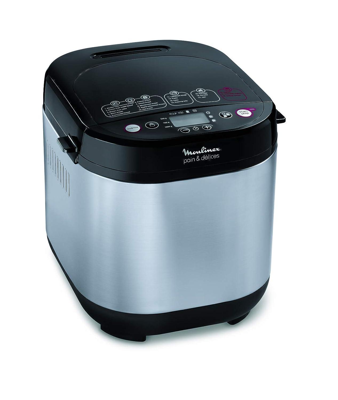 Moulinex Pain & Délices OW240E30 - Panificadora 1 kg, función yogur, pan sin gluten, pan casero, 20 programas automáticos, temporizador de 15 h, ...