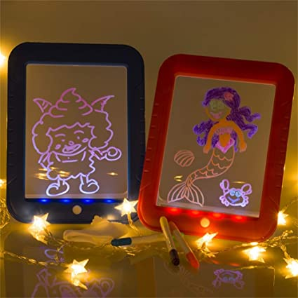 3D Magic Drawing Pad,Pizarra Mágica Infantil Efectos De Luz Puzzle ...