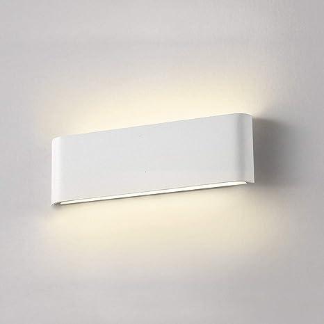 Applique Da Parete Interno Moderno Wowatt Lampada Da Parete Led Moderna 12W  Bianco Caldo 2800k Lampada Muro Esterno Camera da Letto Corridoio ...