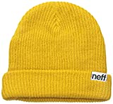NEFF Fold Beanie Hat, Yellow, One Size