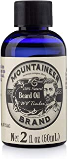 product image for Beard Oil by Mountaineer Brand, WV Timber, Scented with Cedarwood and Fir Needle, Conditioning Oil, 2 oz bottle