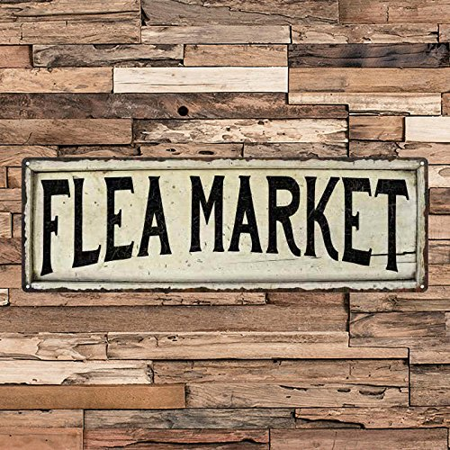 - ACOVE Flea Market Vintage Looking Shabby Chic Metal Sign Kitchen Home Wall Dcor