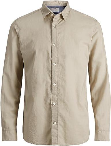 Jack & Jones Jornew Lee Shirt LS Camisa para Hombre