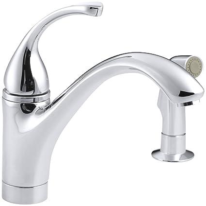 KOHLER KCP Forte Single Control Kitchen Sink Faucet With - Kohler forte single handle bathroom faucet