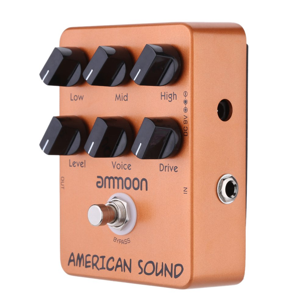 ammoon® AP-13 American Sound Amp Simulator Guitar Effect Pedal True Bypass by ammoon