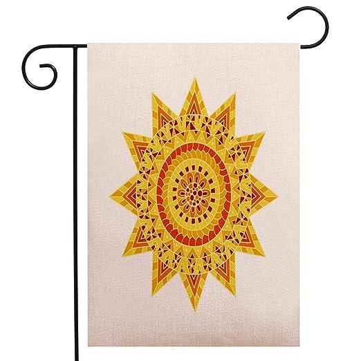 Bandera creativa de jardín de BEIVIVI, diseño floral de Hamsa ...