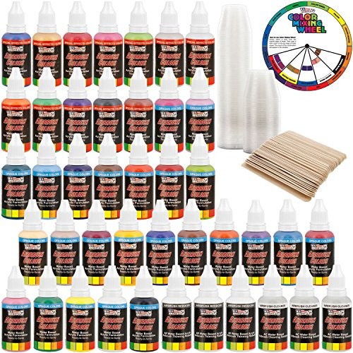 us-art-supply-36-color-deluxe-airbrush-acrylic-paint-set-with-cleaner-thinner-100-plastic-mixing-cup