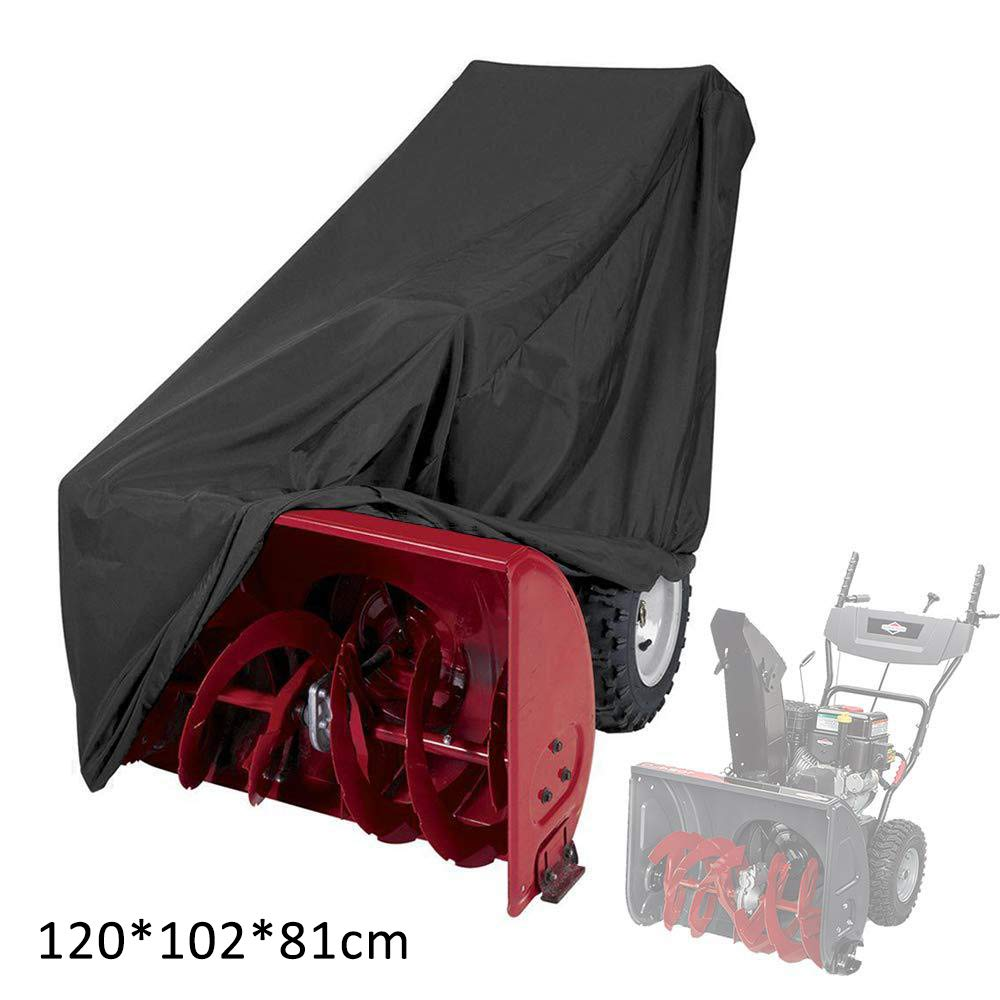 RIYIFER Universal Size Snow Thrower Cover, 420D Waterproof Tear Resistant Oxford Cloth Durable All Weather Outdoor Protection Includes Carry Bag -Black(47''X40''X32'') by RIYIFER