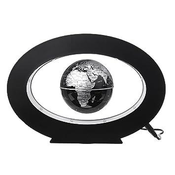 ovale büro schreibtische 35inch ovale form magnetischer sich hin und herbewegender kugelweltkarte led beleuchtet funktion kugel