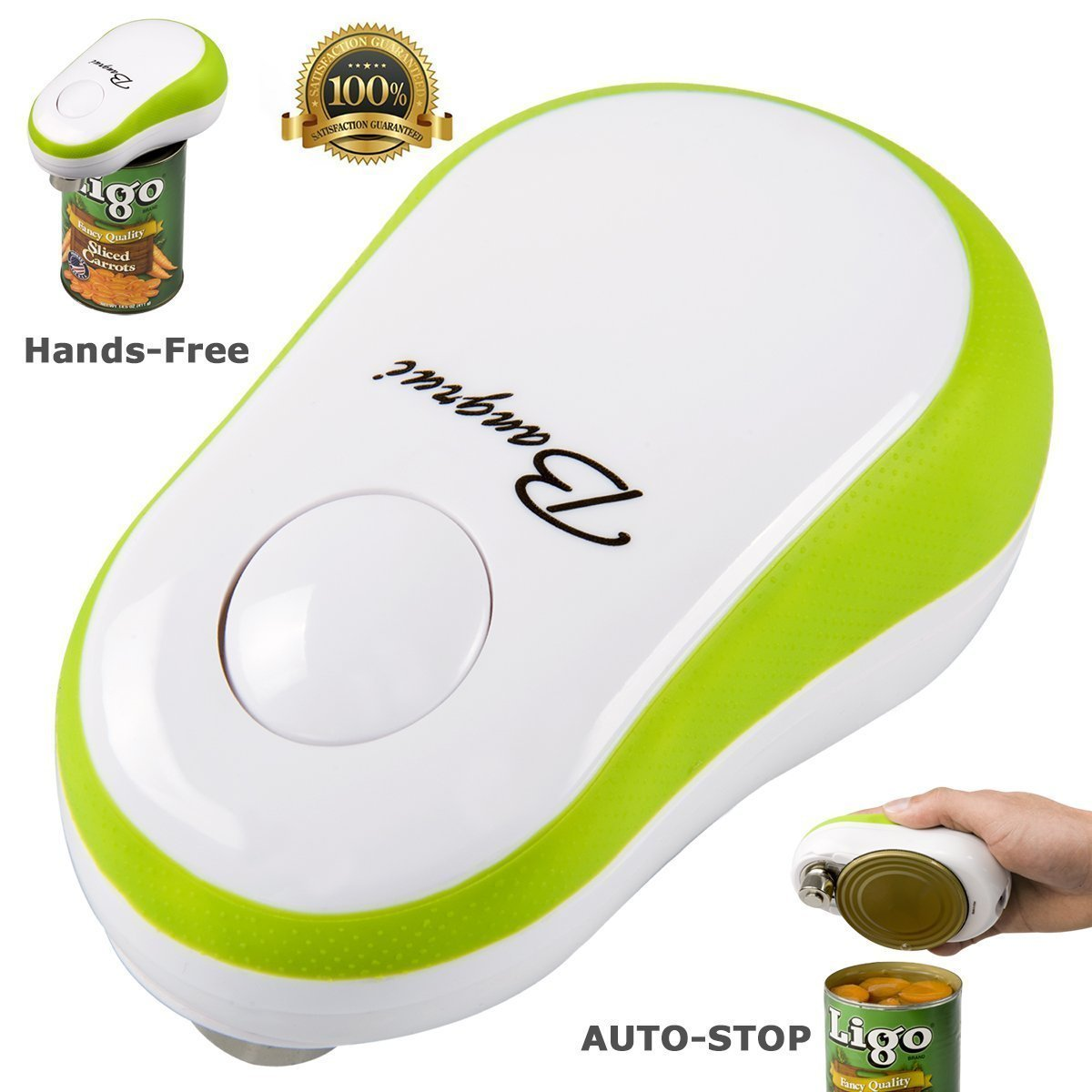 Electric Can Opener, Bangrui One Button Start & Auto Stop Can Opener, Metal/Plastics, 11.4 X 7.4 X 6.1cm, Green