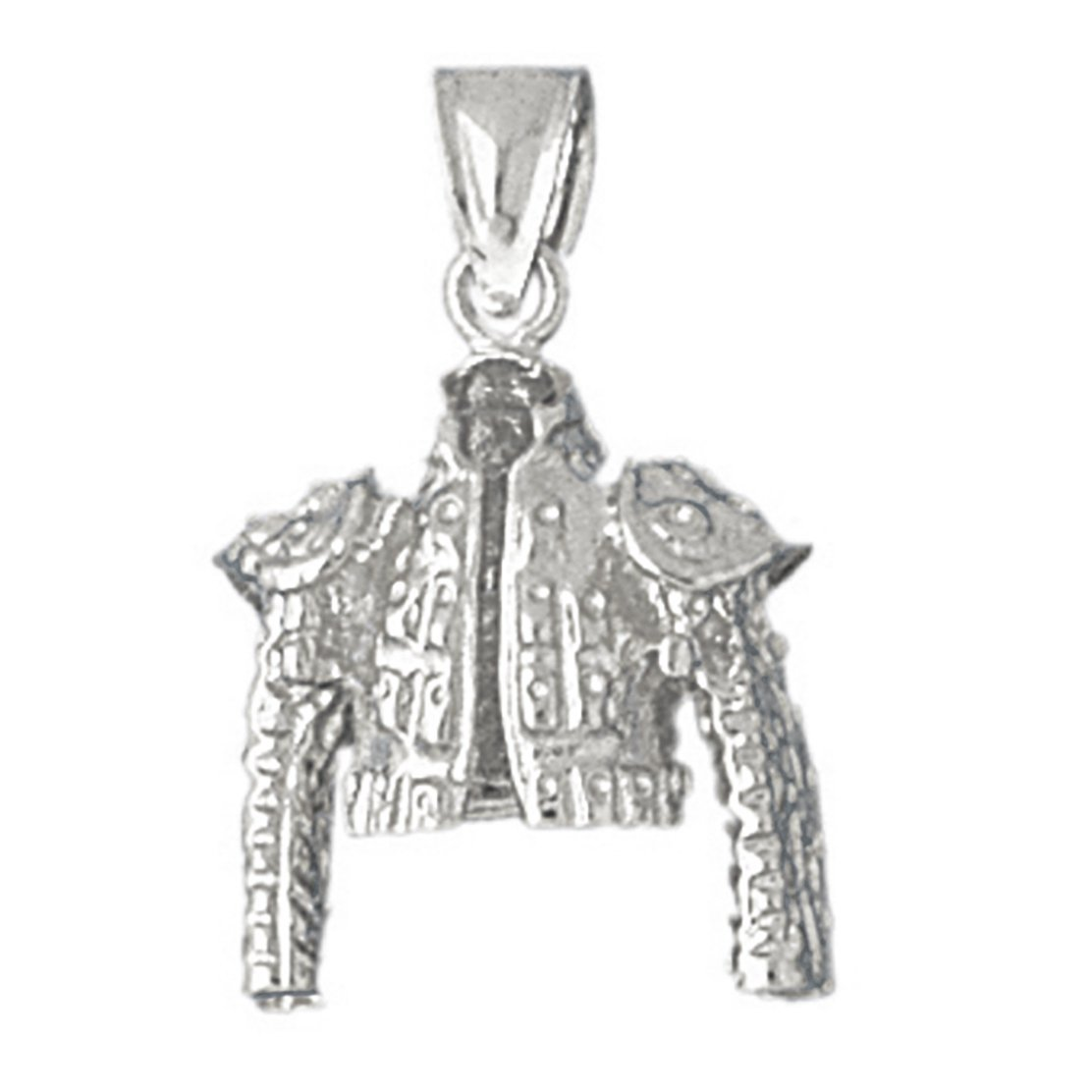 14k White Gold Matador Jacket Pendant by K&C