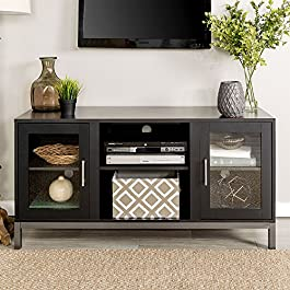 WE Furniture Avenue Wood TV Console with Metal Legs