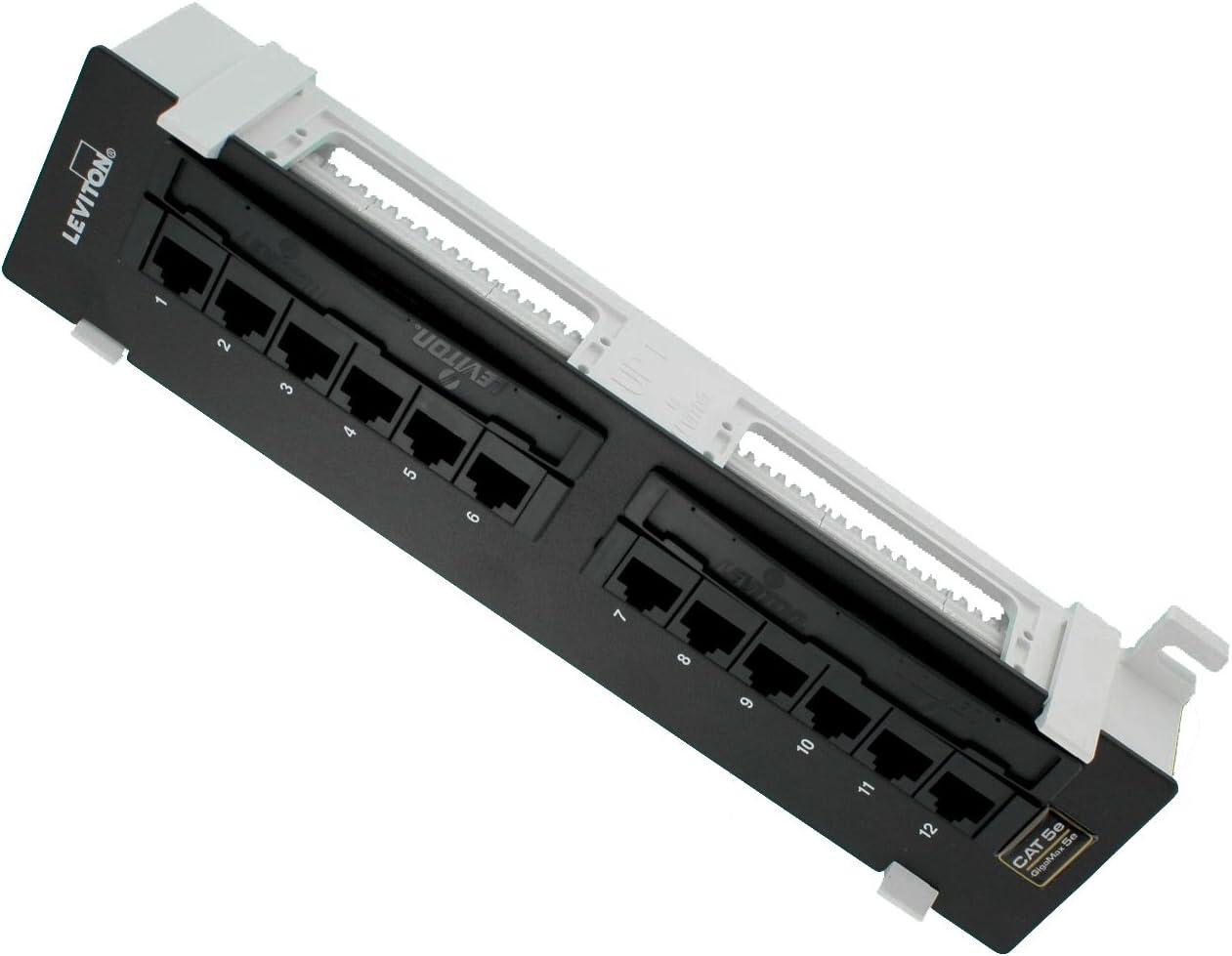Cat 5E 10.0-inchH X 2.3-inchW Leviton 5G596-U89 GigaMax 5E Universal 12-Port Patch Block