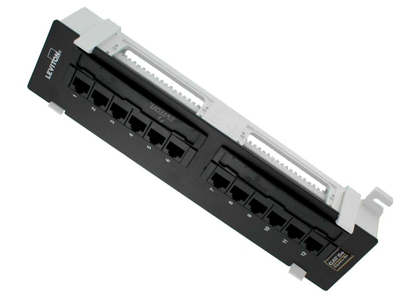 Leviton 5g596 U89 Gigamax 5e Universal 12 Port Patch Wiring Block Cat 100 Inchh X 23 Inchw Home Improvement