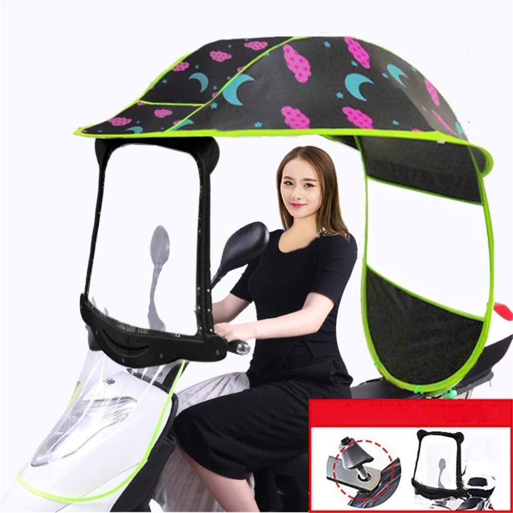 WANG Cubierta de Lluvia de Sombra de Sol eléctrica para Bicicleta, Paraguas de Motor Universal para Coche, Movilidad, Paraguas Impermeable para Sol