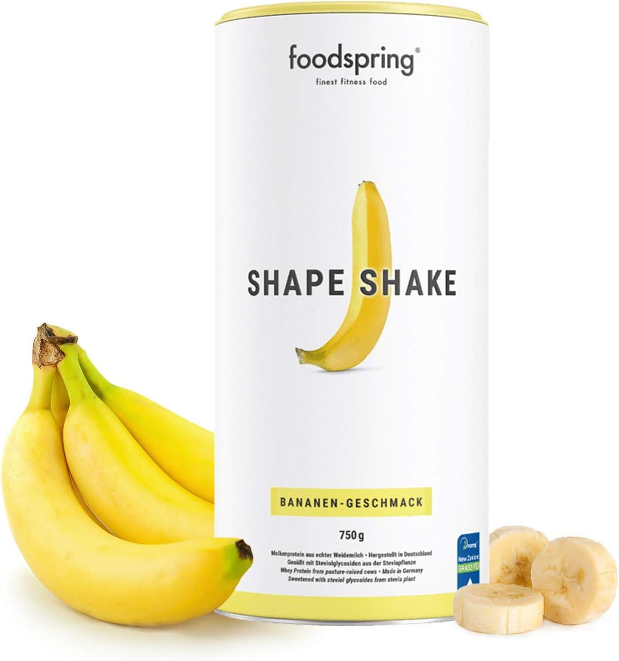foodspring Shape Shake, Sabor Plátano, 750g, Batido saciante ...