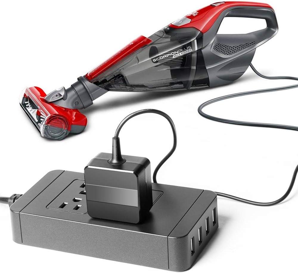 TOP CHARGEUR Adaptador Alimentaci/ón Cargador Corriente 19V Reemplazo Recambio Aspirador Dirt Devil 0606003 Robot Vacuums Libero Spider Fusion