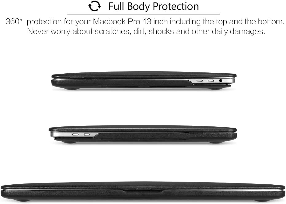 A2337 M1//A2179//A1932 Schwarz ICARER MacBook Air 13 2020 2019 2018 Lederh/ülle Ultra Slim Ledertasche Vintage Leder H/ülle Case Cover f/ür Apple MacBook Air 13 Modell