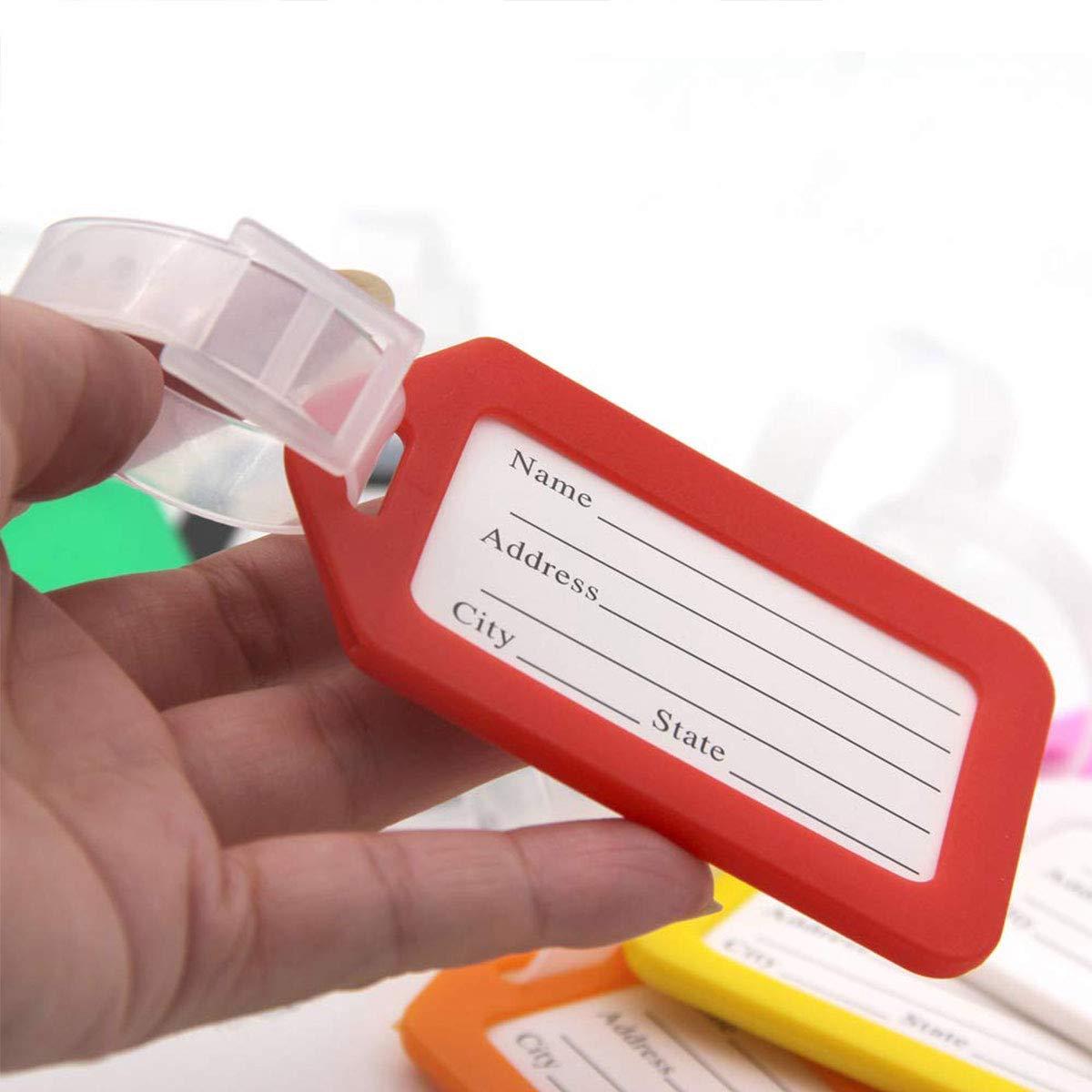 /étiquettes de Voyage en Plastique pour Sac /à Main Lot de 10 /étiquettes de Bagage