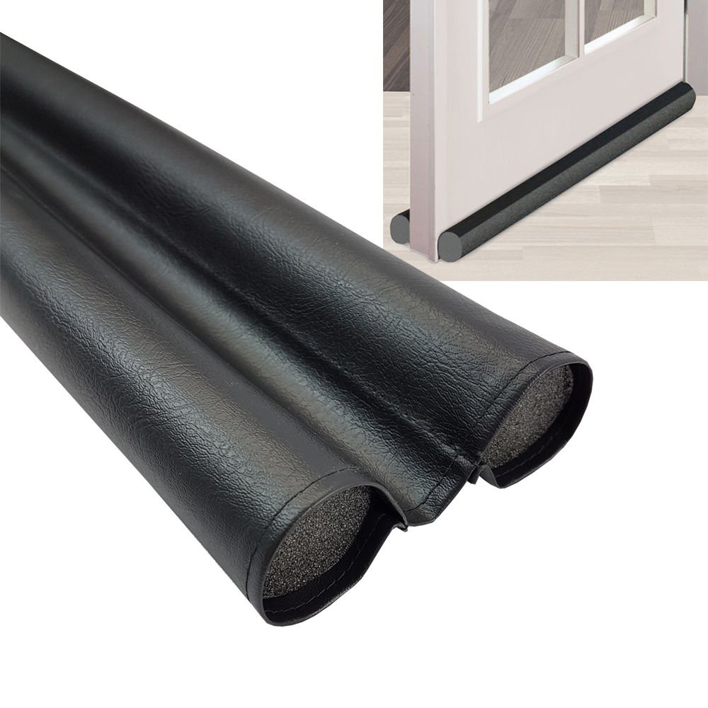 Door sealing gasket DUO 95 cm Pull-off stopper in black individually adjustable and suitable for all floors PROHEIM