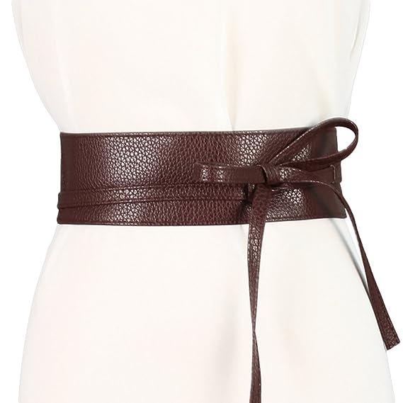 Lumeidon Mujer Primavera Verano Otoño Salvaje La Decoración Del Vestido Cinturón Ancho Cinturón De Lazo Decorativo