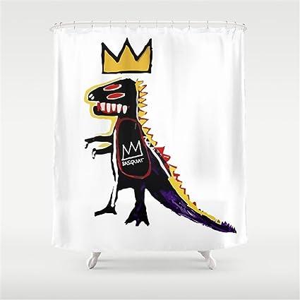 Hbesa Basquiat Dinosaur King Shower Curtain 78x72 Inch
