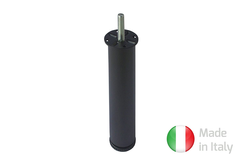 hauteur 25/cm Home System 674201 /Ø/40/cm noir Pied cylindrique en m/étal pour lit /à lattes