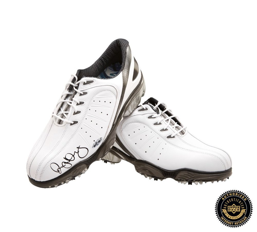 Rory McIlroy Autographed/Signed Foot Joy Sport White Golf Shoes