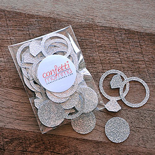 Engagement Ring Confetti. 2 Packs (40ct each). Bachelorette Party Decorations. Bridal Shower (Groom Wedding Confetti)