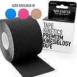 TAPE KINETICS Premium Kinesiology Tape | 2'' x 16.4 ft | Waterproof & Latex-free (Black)