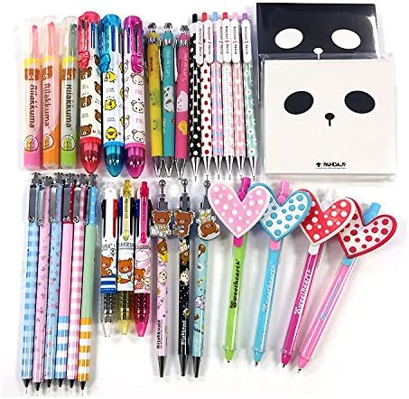 San-X Rilakkuma and Sanrio Hello Kitty 10 of Assorted Stationery Set F//S Japan