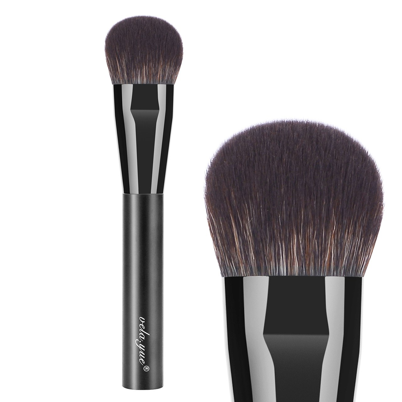 vela.yue Cheek Finish Brush - Silky Smooth Application of Blush, Bronzer and Highlighter VY