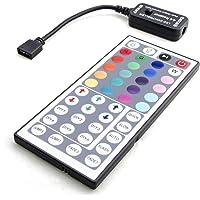 HitLights Control para tira de luz LED 12 V-24 V, para SMD5050 RGB LED multicolor, Controlador personalizado de 44 teclas