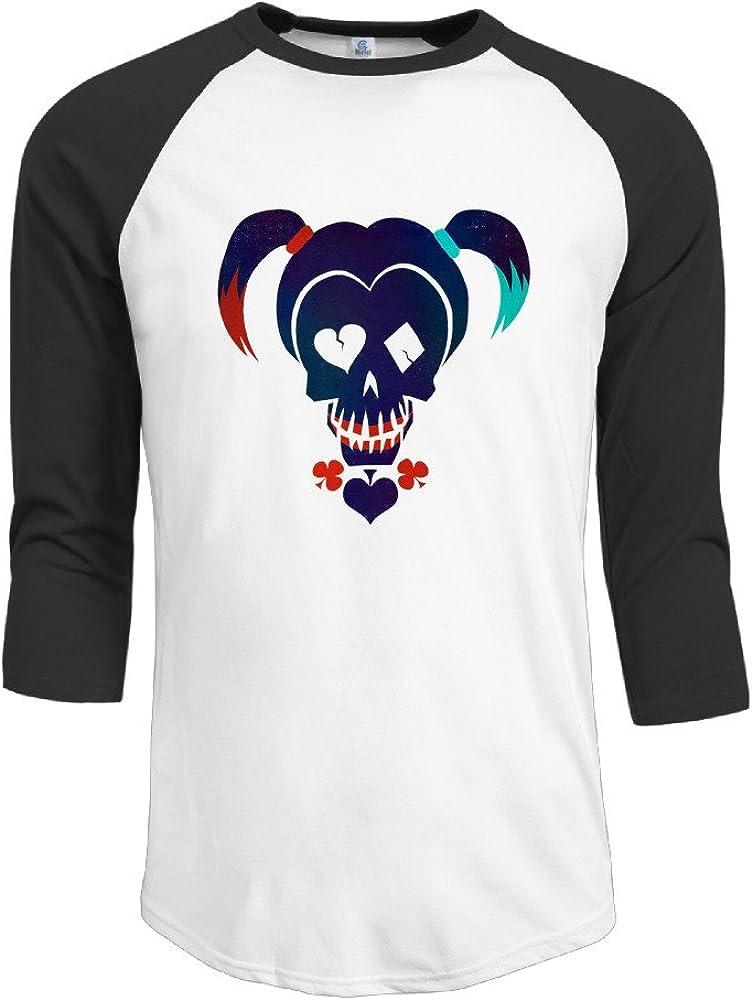 Volte suicidio película Squad tarea Comic fuerza X Character Logo–Camiseta de manga 3/4para Hombro Moda camisetas negro
