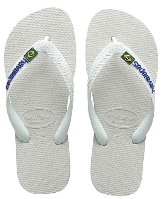 Brasil Logo, Tongs Mixte Adulte, Blanc (White 0001), 39/40 EU (37/38 BR)Havaianas