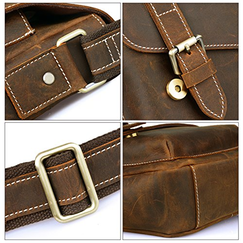 fb2d4f9c9621 Jack Chris Handmade Men s Leather Messenger Bag Shoulder Bag Ipad ...