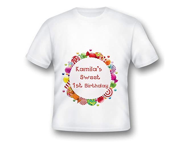 Custom Candy Land Birthday Tee Shirt Party Shoppe Candyland T Sweet 1st