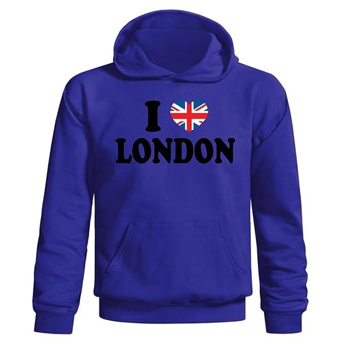 Flip Youth de Londres para niños I Love diseño de la Bandera británica de corazón con Sudadera con Capucha: Amazon.es: Ropa y accesorios