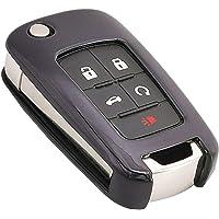 Black Soft TPU Key Fob Cover Case Remote Holder Skin Glove for Chevy Chevrolet Equinox Camaro Cruze Malibu Sonic Volt…