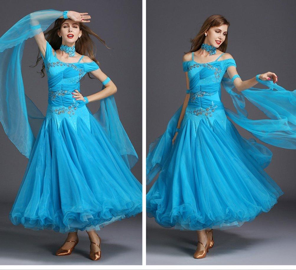 Ballroom Tanzkleid Für Frauen Wettbewerb Performance Kleidung Kleidung Kleidung Walzer Tango Tanz-Outfit Kurze Ärmel Trikot Passen zu Modernes Kostüm Zubehör B07F6DHS2V Bekleidung Im Gegensatz zu dem gleichen Absatz 9c7450