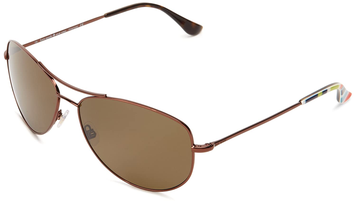 ebb164795d33 Amazon.com: Kate Spade Ally P/S Ally P/S Polarized Aviator Sunglasses,Brown,60  mm: Clothing