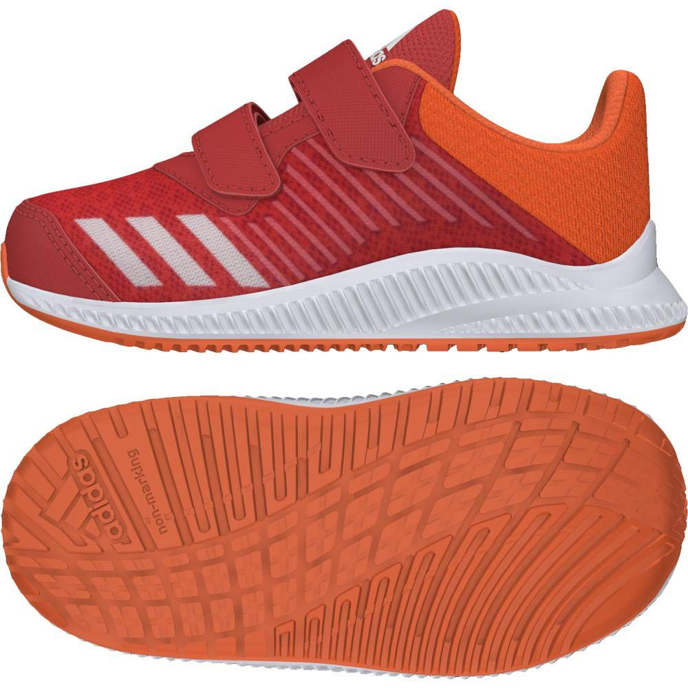 buy online f9555 710b3 Adidas Fortarun Cloudfoam, Sneakers Basses Mixte bébé, Rouge  HirereFtwwhtHireor, 25 EU