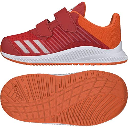 cheaper 51b25 ab6b0 Adidas Fortarun Cloudfoam, Sneakers Basses Mixte bébé, Rouge  HirereFtwwhtHireor,