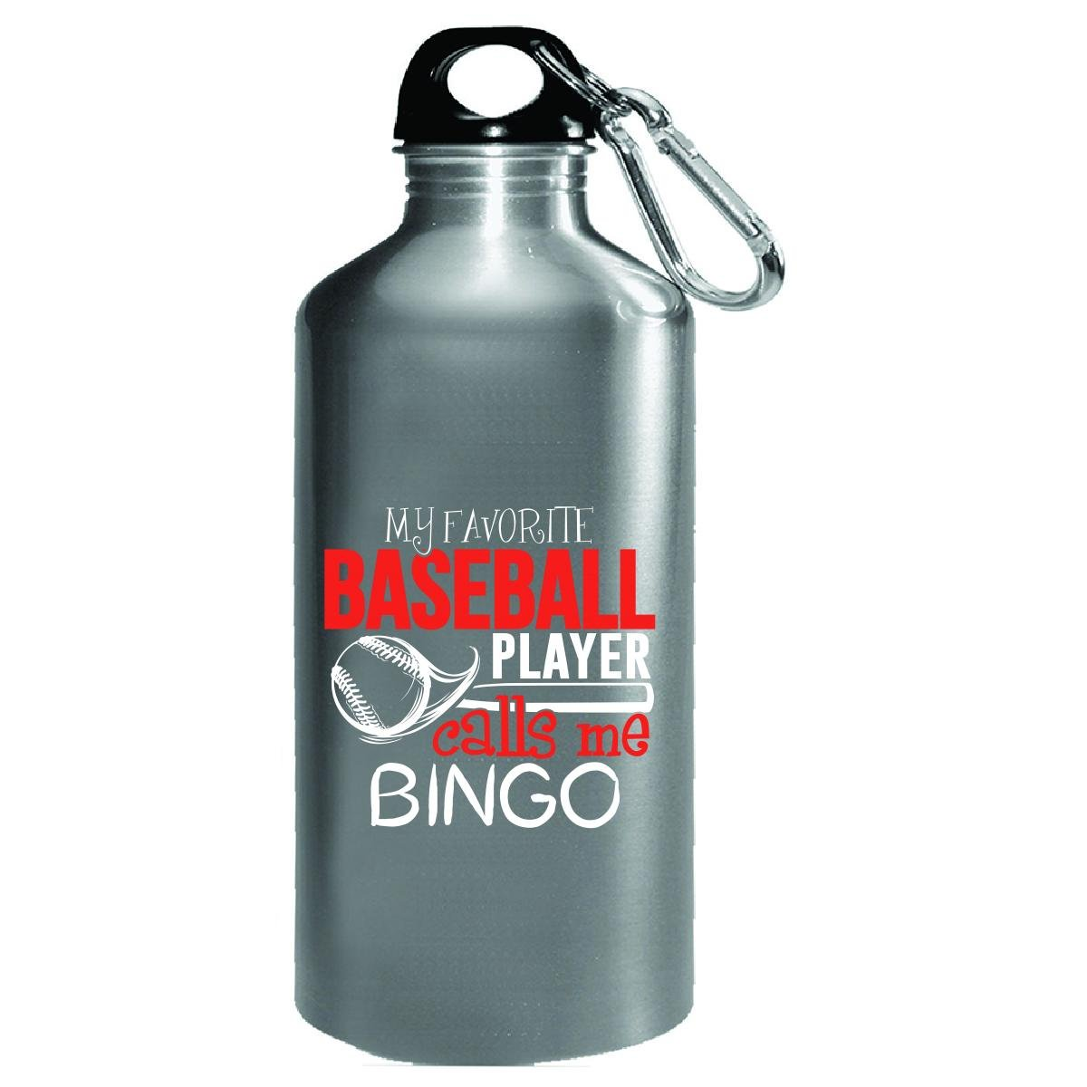 My Favorite Baseball Player Calls Me Bingo - Water Bottle by My Family Tee