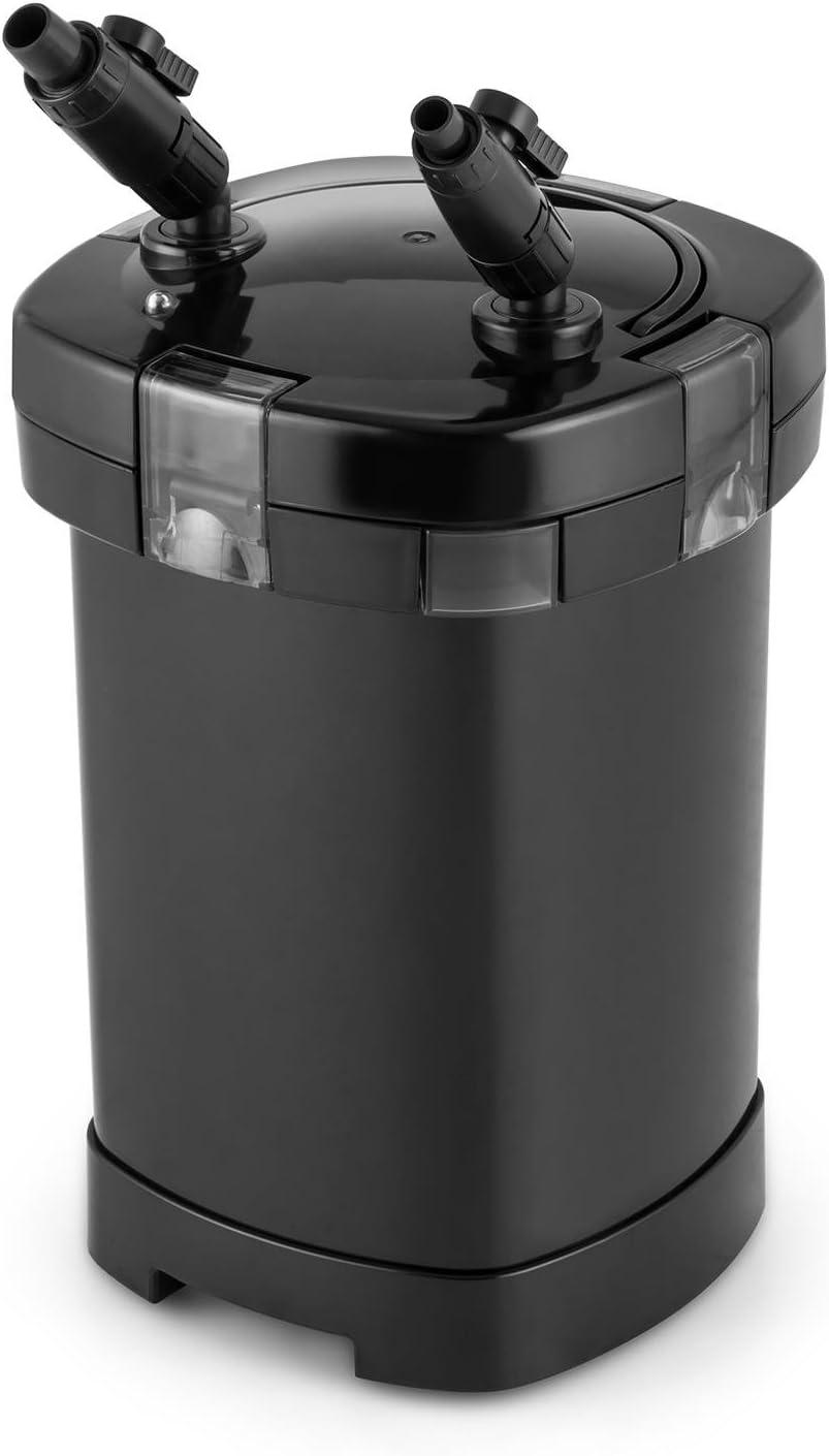 Aquarium Au/ßenfilter UVC-Kl/ärer 2 x Schlauch von 1,6 m f/ür Aquarien bis 400 L Kapazit/ät 3-Stufen-Filter Wasser-Durchstrom bis zu 1000 L//h Waldbeck Clearflow 18UV 18 Watt Pumpenmotor